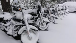Bikes in winter