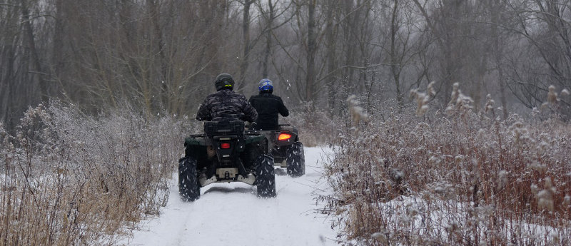 ATV Are Great Fun Through The Winter