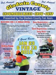 3rd Annual Snowmobile Races